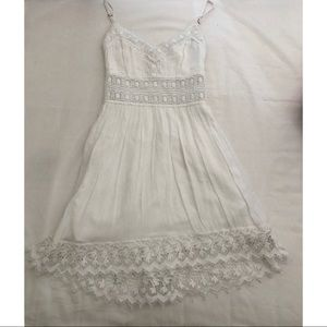 Abercrombie & Fitch Shear Waist Lace Crochet Dress